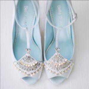 Bella Belle Bridal Blue Wedding Shoes